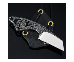 "Black Dragon Forge V3 Skull Neck Knife (2.0"" Satin)"