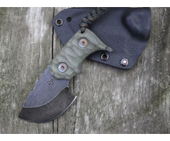 "Wander Tactical Tryceratops Green Fixed Blade Knife (2.5"" Black)"