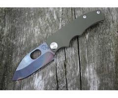 "Medford Knife & Tool 187RMP OD-Green Frame Lock Knife (3.3"" Vulcan)"