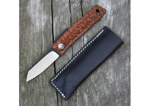 Hiroaki Ohta Knives OFF FK 5 Snake Wood Friction Folder (Two Tone)