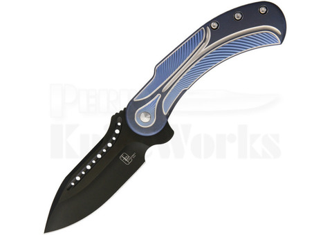 "Todd Begg Steelcraft Series Field Marshall Knife Blue/Silver (4"" Black)"