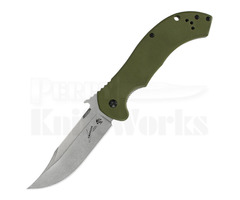 "Kershaw CQC-10K Frame Lock Knife OD Green (3.5"" Stonewash) 6030"