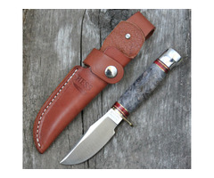 Hess Knifeworks Buckeye Burl Hunter Knife