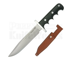 BlackJack Knives Halo Attack 14 Fixed Blade Knife Black Micarta